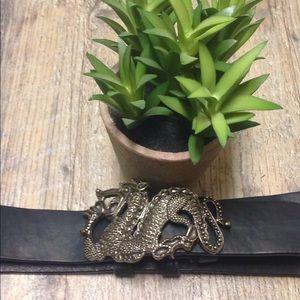 Chico's Adjustable dragon belt s/m genuine leather